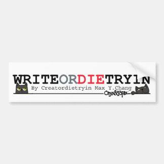OAT WRITEordie Bumper Sticker