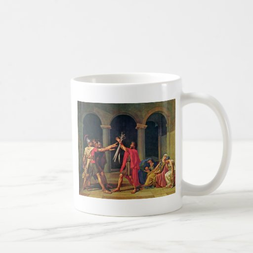 Oath Of The Horatii By David Jacques-Louis (Best Q Classic White Coffee Mug