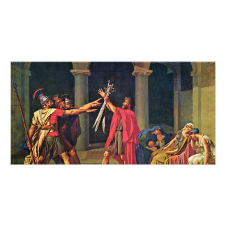 Oath Of The Horatii By David Jacques-Louis (Best Q Photo Greeting Card