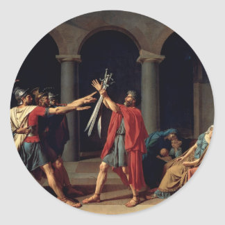 Oath of the Horatii Classic Round Sticker