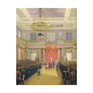 Oath of the Successor to the Throne Alexander II Canvas Print