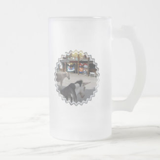 Oatman Arizona Burros Frosted Glass Beer Mug