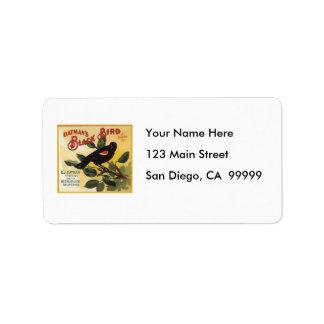 Oatman s Black Bird Brand Fruit Crate Label