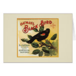 Oatman's Black Bird Brand Fruit Crate Label