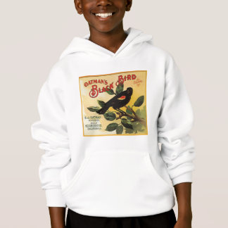 Oatman's Black Bird Brand Fruit Crate Label Hoodie