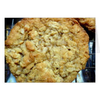 Oatmeal cookie card