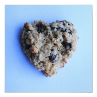 Oatmeal Cookie Heart Square Flat Cards