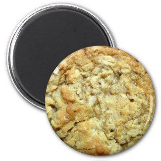 Oatmeal cookie magnet