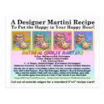 Oatmeal Cookie Martini Recipe Card Postcard
