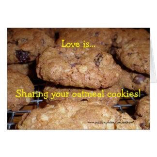 Oatmeal Cookie Recipe Card