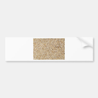 Oatmeal macro as background structure bumper sticker