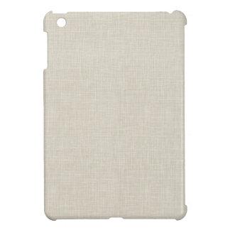Oatmeal Tan Faux Linen Fabric Textured Background iPad Mini Cases