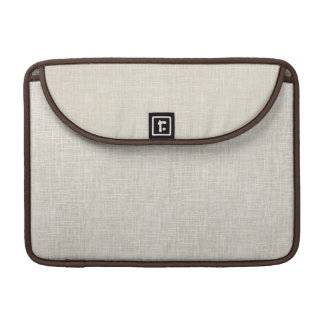 Oatmeal Tan Faux Linen Fabric Textured Background MacBook Pro Sleeve