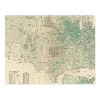 Oats per square mile postcard