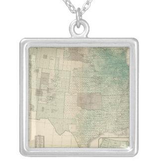 Oats per square mile square pendant necklace