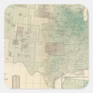 Oats per square mile square sticker