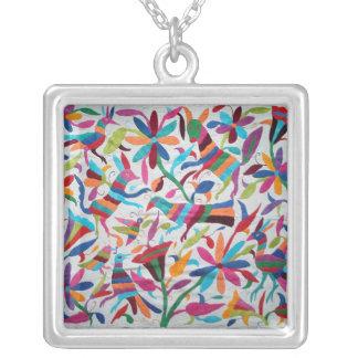 Oaxaca Mexico Mexican Mayan Hispanic Ethnic Boho Silver Plated Necklace