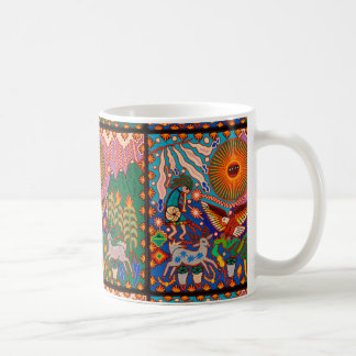 Oaxaca Mexico Mexican Mayan Tribal Art Boho Travel Coffee Mug