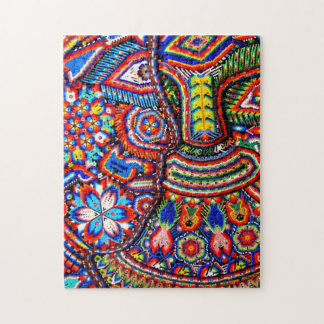 Oaxaca Mexico Mexican Mayan Tribal Art Boho Travel Jigsaw Puzzle