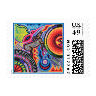 Oaxaca Mexico Mexican Mayan Tribal Art Boho Travel Postage Stamp