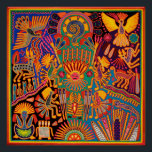 """Oaxaca Mexico Mexican Mayan Tribal Art Boho Travel Poster<br><div class=""""desc"""">Contact designer for assistance with personalization or special orders. The state of Oaxaca in southern Mexico has a noteworthy tradition of finely crafted textiles, particularly handmade embroidery and woven goods that frequently utilize a backstrap loom. Oaxaca is home to several different groups of indigenous peoples, each of which has a...</div>"""