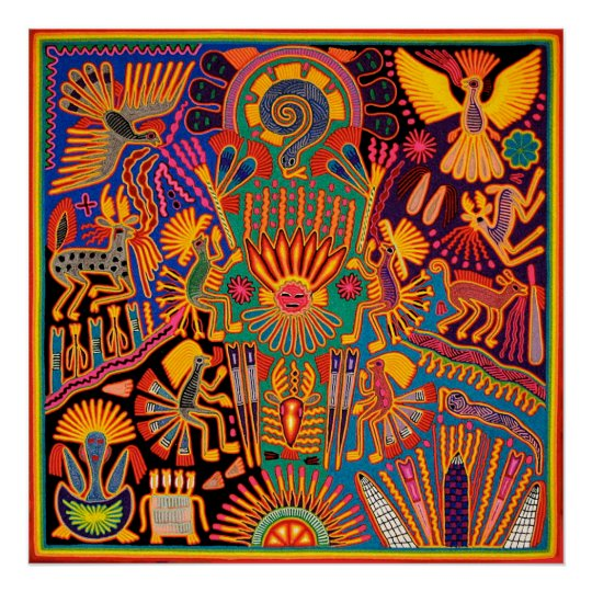 AZTEC PRIDE Urban City Latino Mexican Culture Tribal Art Poster Choose Size NEW