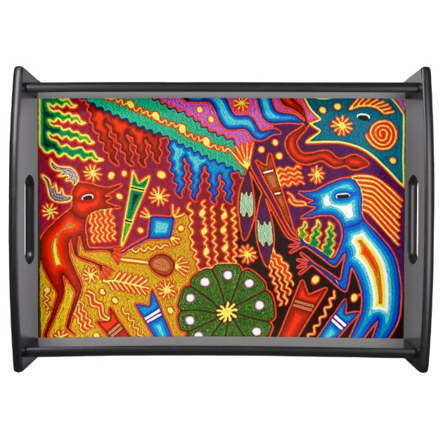 Oaxaca Mexico Mexican Mayan Tribal Art Boho Travel Serving Tray Zazzle Com