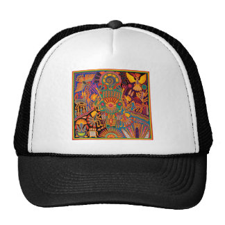 Oaxaca Mexico Mexican Mayan Tribal Art Boho Travel Trucker Hat