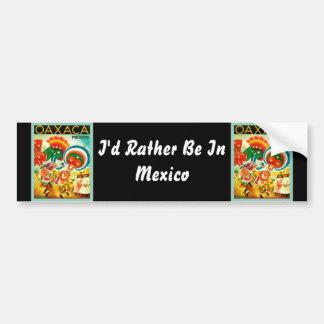 Oaxaca ~ Mexico ~ Vintage Travel Bumper Sticker