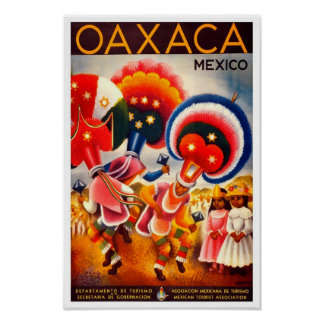 Oaxaca-Mexico Vintage Travel Poster