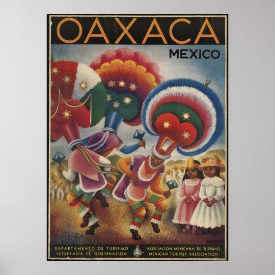 Oaxaca Mexico Vintage Travel Poster Ad Retro Print