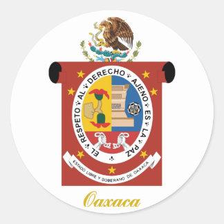 Oaxaca Pegatina Redonda