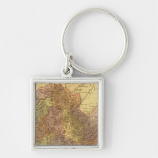 Oaxaca Silver-Colored Square Keychain