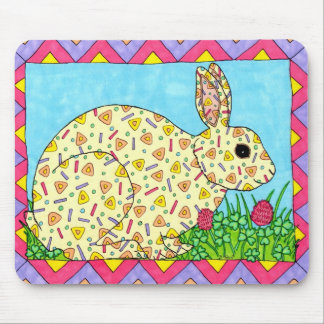 Oaxacan Bunny in Clover Mouse Pad