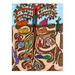 Oaxacan Bunny Tree of Life Post Card