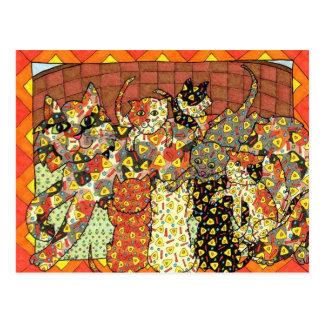 Oaxacan Cat and Kittens Postcard