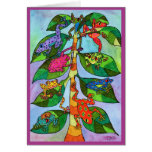 Oaxacan Frog Tree of Life Greeting Cards