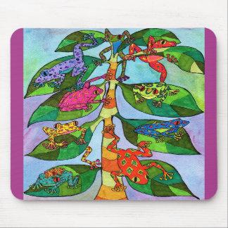 Oaxacan Frog Tree of Life Mousepads