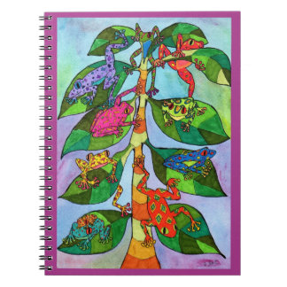 Oaxacan Frog Tree of Life Spiral Note Books