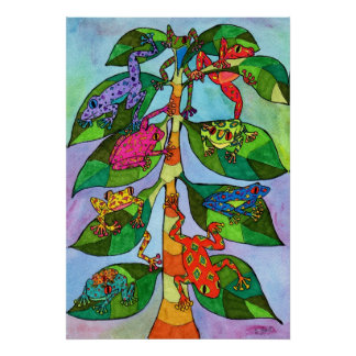 Oaxacan Frog Tree of Life Poster