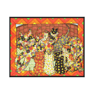 Oaxacan Mother Cat and Kittens Canvas Print