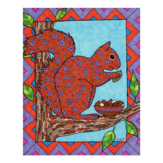 Oaxacan Squirrel with Mixed Nuts Poster
