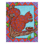 Oaxacan Squirrel with Mixed Nuts Print