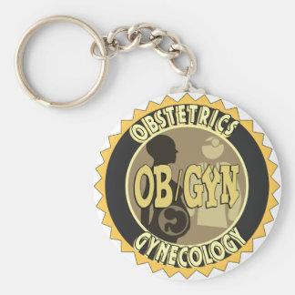 OB/GYN BADGE FEMALE DOCTOR LOGO KEYCHAIN