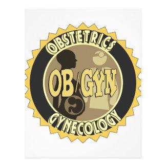 OB/GYN BADGE FEMALE DOCTOR LOGO LETTERHEAD
