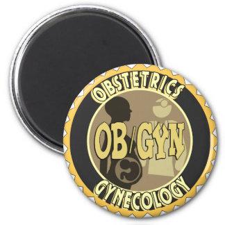 OB/GYN BADGE FEMALE DOCTOR LOGO FRIDGE MAGNET