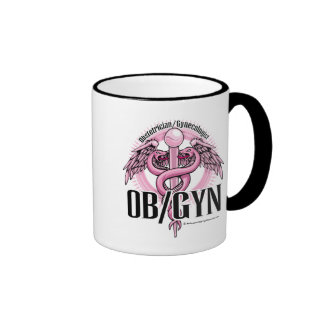 OB/GYN PINK Caduceus Ringer Coffee Mug
