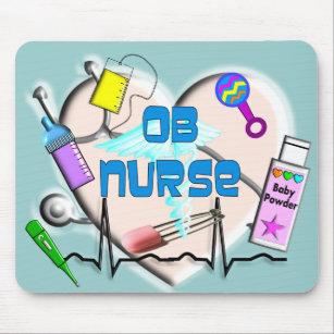 OB Nurse Art Gifts Mouse Pad