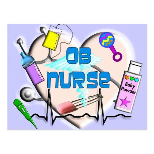 OB Nurse Art Gifts Postcards
