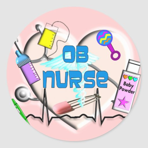 OB Nurse Art Gifts Stickers